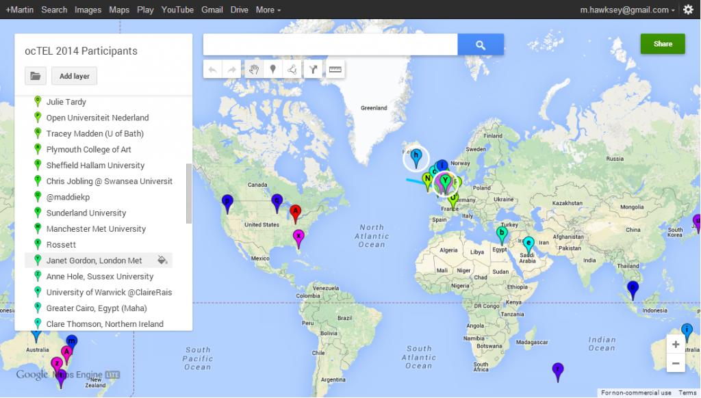 ocTEL Community Map