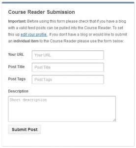 Course Reader Submission Form
